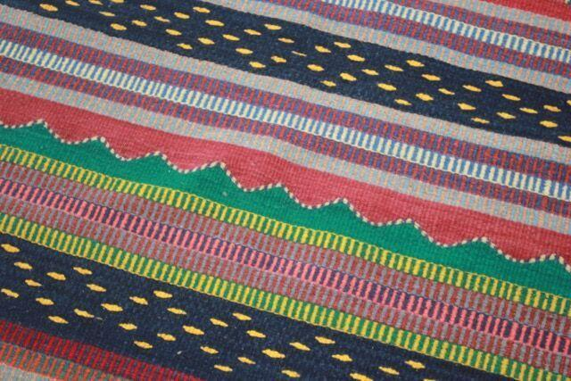 Mexican Pedal-Loom Striped Rug