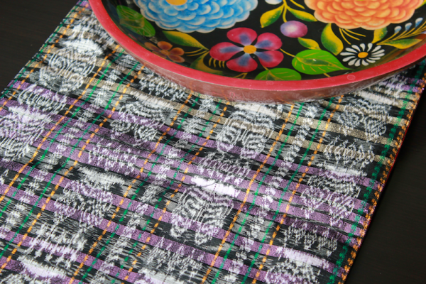 Guatemalan Ikat Rectangular Table-runner