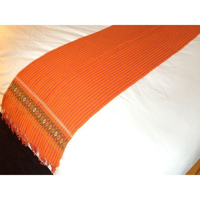 Zinacantan Orange Rebozo Table-runner