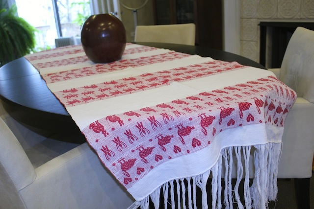 Red Rebozo Table-runner