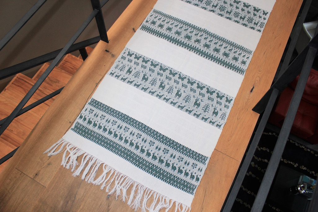 Green Rebozo Table-runner