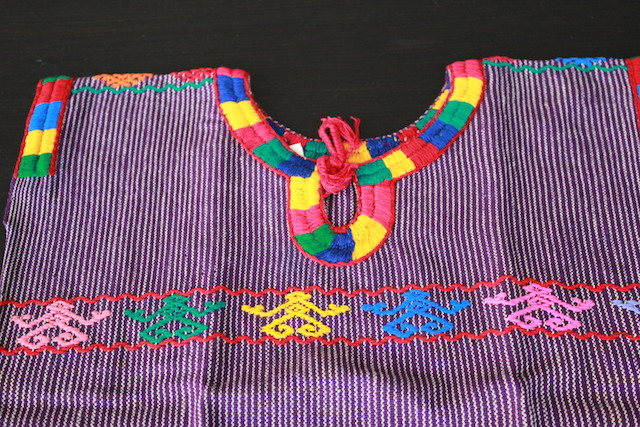 Purple Blouse Huipil for Kid