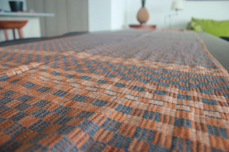 Oaxacan Ocher Rebozo/Table-runner