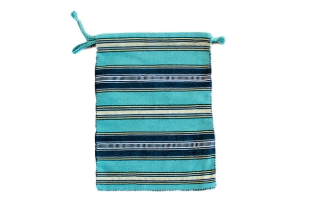Chiapas Handwoven Green Striped Purse