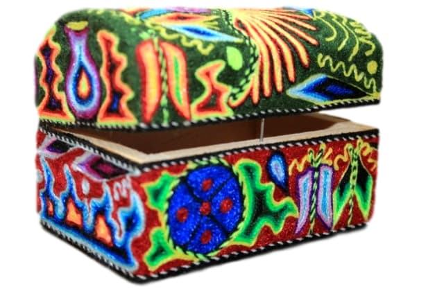 Wooden Huichol Box
