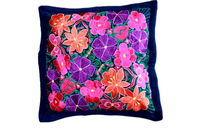 Embroidered Pillow Teotitlan
