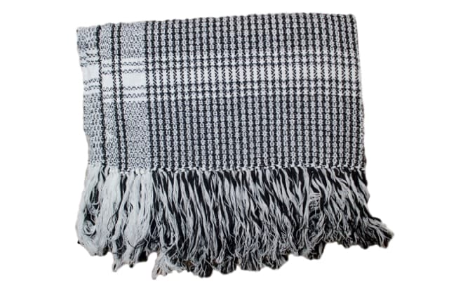 Rebozo Black Shawl or Bed Runner