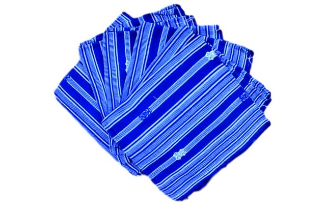 Set of 6  hand-woven Blue Napkins/Placemats