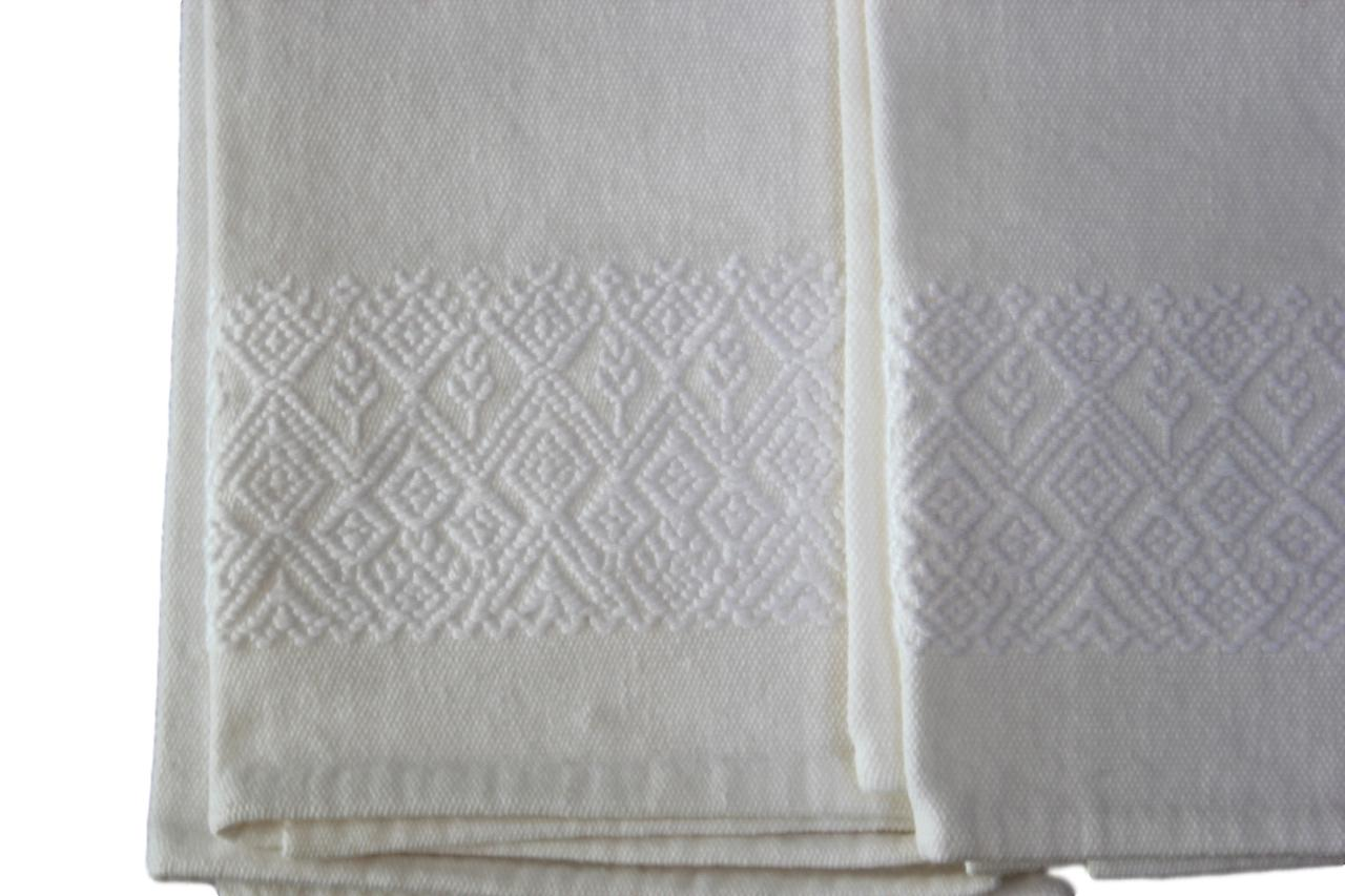 White Embroidered Hand-towel