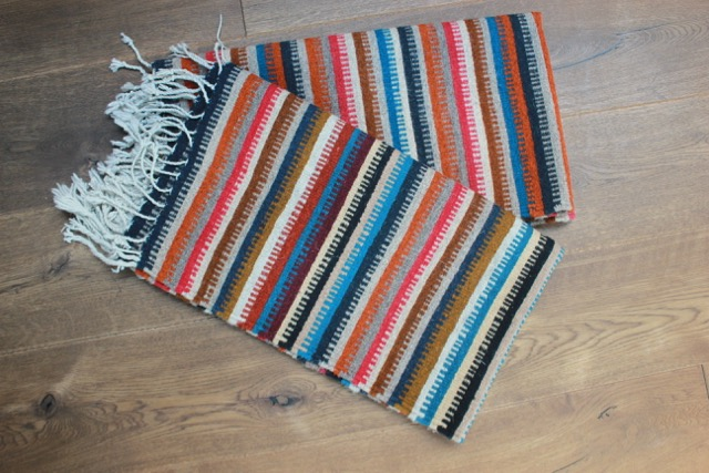 Mexican Pedal-Loom Striped Wool Rugs – A Pair