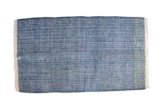 Mexican Pedal-Loom Blue Wool Rug