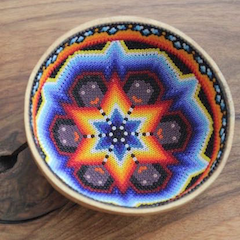 Small Huichol Bowl II