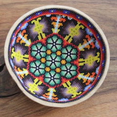 Small Huichol Bowl I